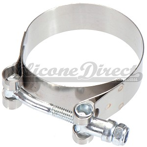 "51mm / 2"" Stainless T-Bolt Hose Clamp (54-62mm OD Range)"