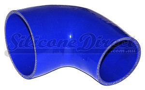 "102mm to 63mm ID (4-2.5"") 90 Degree Reducing Elbow - Blue"