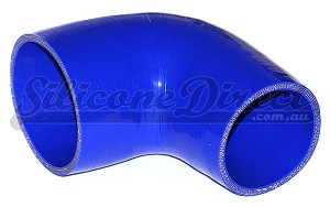 "89mm to 76mm ID (3.5-3"") 90 Degree Reducing Elbow - Blue"