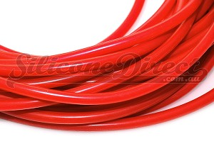 "3mm ID (1/8"") Silicone Vacuum Hose - Red 1M"